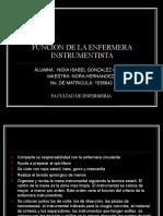 FUNCION DE LA ENFERMERA INSTRUMENTISTA