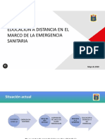 PPT- EDUCACION A DISTANCIA EN EL MARCO DE LA EMERGENCIA SANITARIA - MAYO 2020.