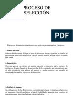 Selección proceso y herramientas