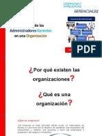 Funciones de los Administradores Gerentes en una Organización