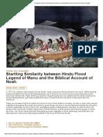 Startling Similarity between Hindu Flood Legend of Manu and the Biblical Account of Noah _ Ancient Origins