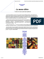 MONO DIETE _bien-être, se désintoxiquer, maigrir par la cure de raisin, pommes ou riz complet.....pdf