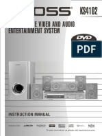Koss KS4102 Progressive-Scan DVD Home Theater Manual