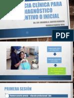 Secuencia clínica para el diagnóstico presuntivo o inicial