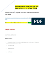 Strategic Human Resources Planning 5th Edition by Monica Belcourt – Test Bank