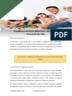 Módulo Desarrollo afectivo, emocional y social del niño