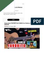 Cómo tocar FAVORITO de CAMILO en Guitarra (Tutorial + PDF GRATIS) ⋆ Music Tutorials