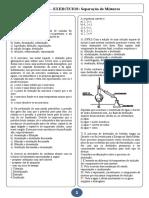 LISTA 4 - Separação de Misturas
