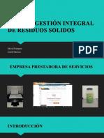 PLAN DE GESTIÓN INTEGRAL DE RESIDUOS SOLIDOS