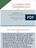 COMIDA CASERA PARA PECES ORNAMENTALES