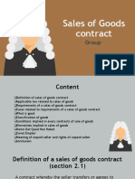 Sales of Goods contract