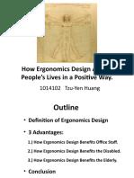 How Ergonomics affects people's lives