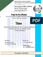 Etude d'un bâtiment R+10 à usage d'habitation Contreventé par un système mi