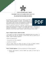 TALLER DE PROYECCION DE VENTAS