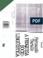 Tarallo (1997) A pesquisa sociolinguística