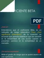 Presentacion clase (Coeficiente Beta)
