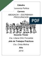 GUÍA de PRÁCTICOS  ECONOMÍA POLÍTICA 2016