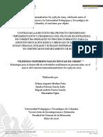 Estrategia Tejiendo Experiencias en Épocas de Crisis - Uptc - 2020- coordinadores y docentes