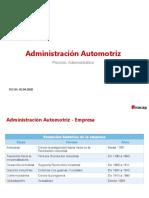 Administración Automotriz - Proceso Administrativo