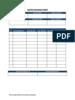ARC-STR-GRN-FRM-01 - Goods Received form