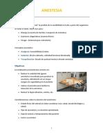 Anestesia y Postoperatorio