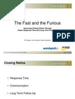 Improving closing Ratios