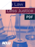 ACLU-PA Report | More Law Less Justice (2019)