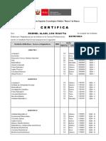 Certificado para ELECTRONICA 2000 2002 LOO HUAYTA