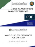 5d. Modelo EOQ con déficit planeado