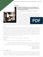 Facetas Formación del Joven Heidegger