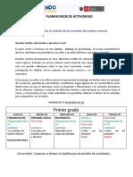 PLANIFICADOR DE ACTIVIDADES SEMANA 9