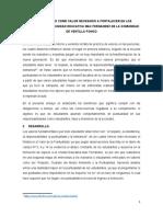 LA PUNTUALIDAD COMO VALOR NECESARIO A FORTALECER EN LOS ESTUDIANTES DE LA UNIDAD EDUCATIVA MAX FERNANDEZ DE LA COMUNIDAD DE VENTILLA PONGO.docx