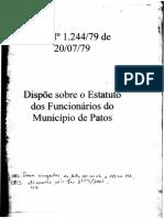 Estatuto Patos PB 1.244-79