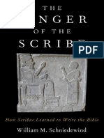 William M. Schniedewind - The Finger Of The Scribe_ The Beginnings Of Scribal Education And How It Shaped The Hebrew Bible-Oxford University Press (2019).pdf