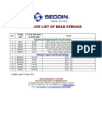 2011 Price List of Agarwood Bead Strings
