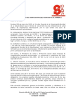 Comunicación de suspensión  (SERO)