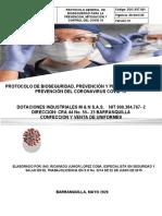 PROTOCOLO DE BIOSEGURIDAD DOTACIONES IND M&N