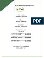 ACCIONES PREFERENTES-MATEMATICAS FINANCIERA