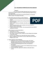 CUESTIONARIO BÁSICO Y OPCIONES FORMATOS PLAN NEGOCIO