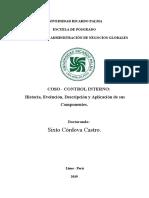 COSO-CONTROL INTERNO-HISTORIA-EVOLUCION-DESCRIPCION-APLICACION