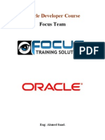 Oracle Developer Course