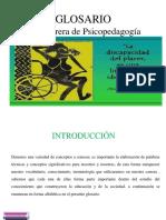 glosario psicopedagogía