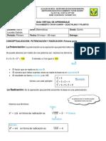 Guía Matemáticas Grado 5 Potenciación