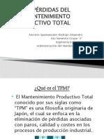 6 GRANDES PÉRDIDAS DEL MANTENIMIENTO PRODUCTIVO TOTAL