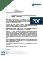 CERTIFICADO LABORAL EFICACIA VERSION 10 - 28 DE MAYO XIMENA