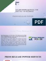 Free Press Release Distribution