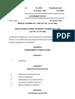 Medical Schemes Regulations 1999