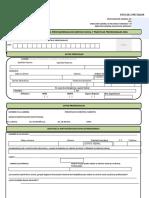 Formato Solicitud de Servicio Social y Prácticas Profesionales 2016