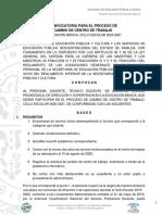 Convocatoria Cambios de Adscripción SEPyC Sinaloa 2020