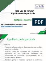 Primera Ley de Newton Equilibrio de la particula